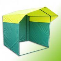 Палатка торговая, разборная «Домик» 2,5 х 2,0, желто-зеленая. Квадратная труба 20х20мм