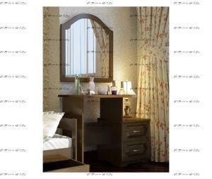 Зеркало для комода №1 Массив DreamLine (86х79)