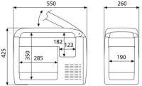 Автохолодильник Waeco Coolfreeze CDF 26 - размеры