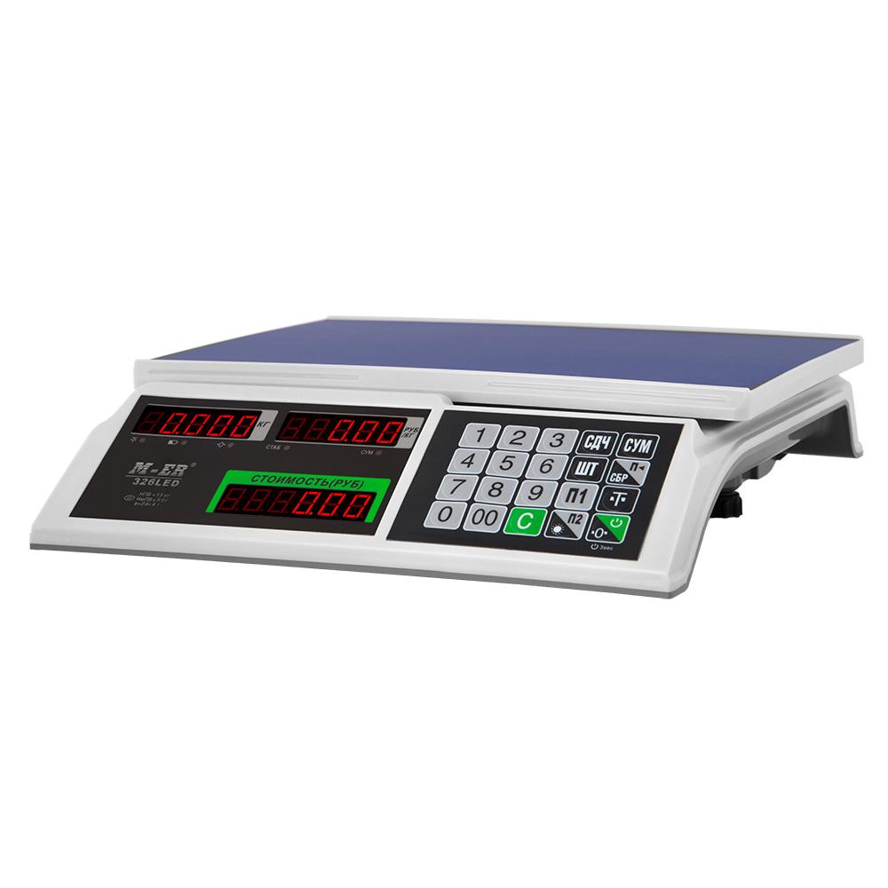 Весы торговые M-ER 326 Slim LED