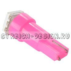 Светодиодная лампа T5 1SMD 5050 розовая 12V