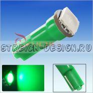 Светодиодная лампа T5 1SMD 5050 зеленая 12V