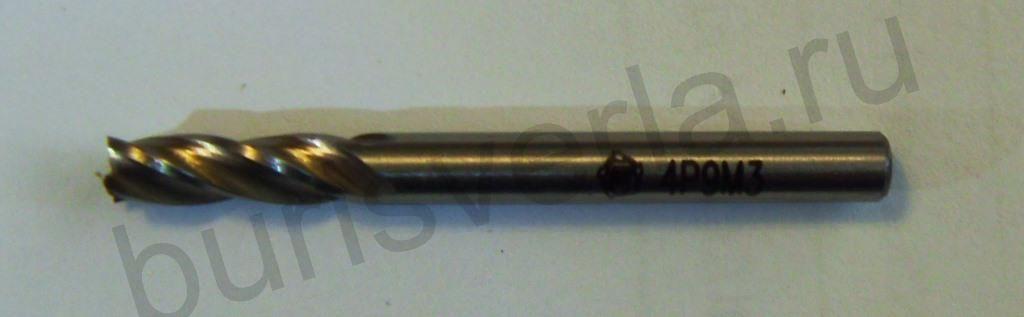 Фреза концевая 4-х заходная, Р6М5, 4 мм