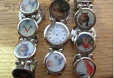 """Часы женские """"Кошечки"""" (на стрейч-браслете)"""