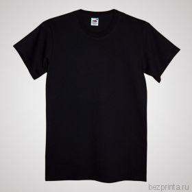 Мужская черная футболка без рисунка FRUIT OF THE LOOM (SCREEN STARS)