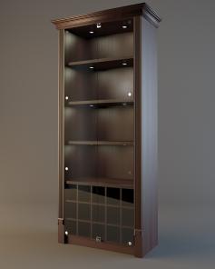 Шкаф для элитного алкоголя LD 005 (со стеклянными дверцами)