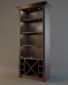 Шкаф для элитного алкоголя LD 004 (со стеклянными дверцами)