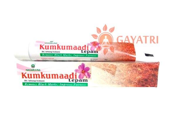 "Восстанавливающий крем для лица ""Кумкумади лепам"", 10 гр., производитель ""Нагарджуна"", Kumkumadi Lepam, 10 gm. Nagarjuna"
