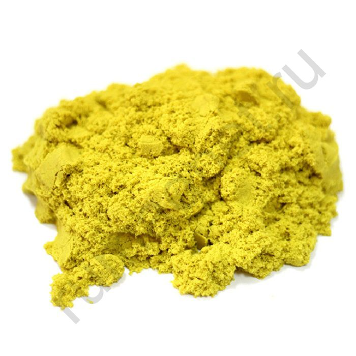 Кинетический песок жёлтый
