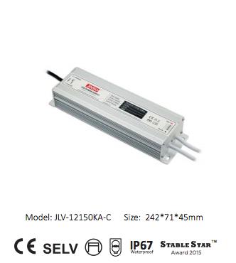 Блок питания для светодиодов. 12 Вольт, 150 Ватт, герметичный IP67 Jinbo