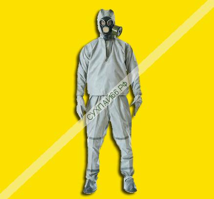 Защитный костюм Л-1 + Противогаз ПМК (КОМПЛЕКТ) ★