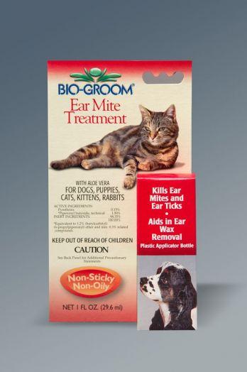 Bio-Groom Ear Mite Treatment. Капли от ушного клеща