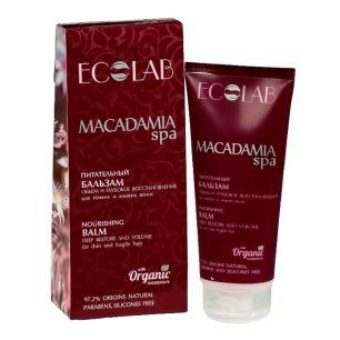 """""""Ecolab"""" Macadamia Питательный бальзам  для волос """"Объем и Глубокое восстановление"""""""