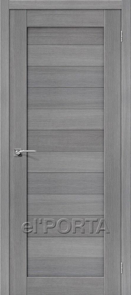 Межкомнатная дверь ПОРТА-21 Grey