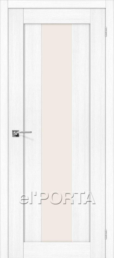 Межкомнатная дверь ПОРТА X-25 ALU Snow Veralinga
