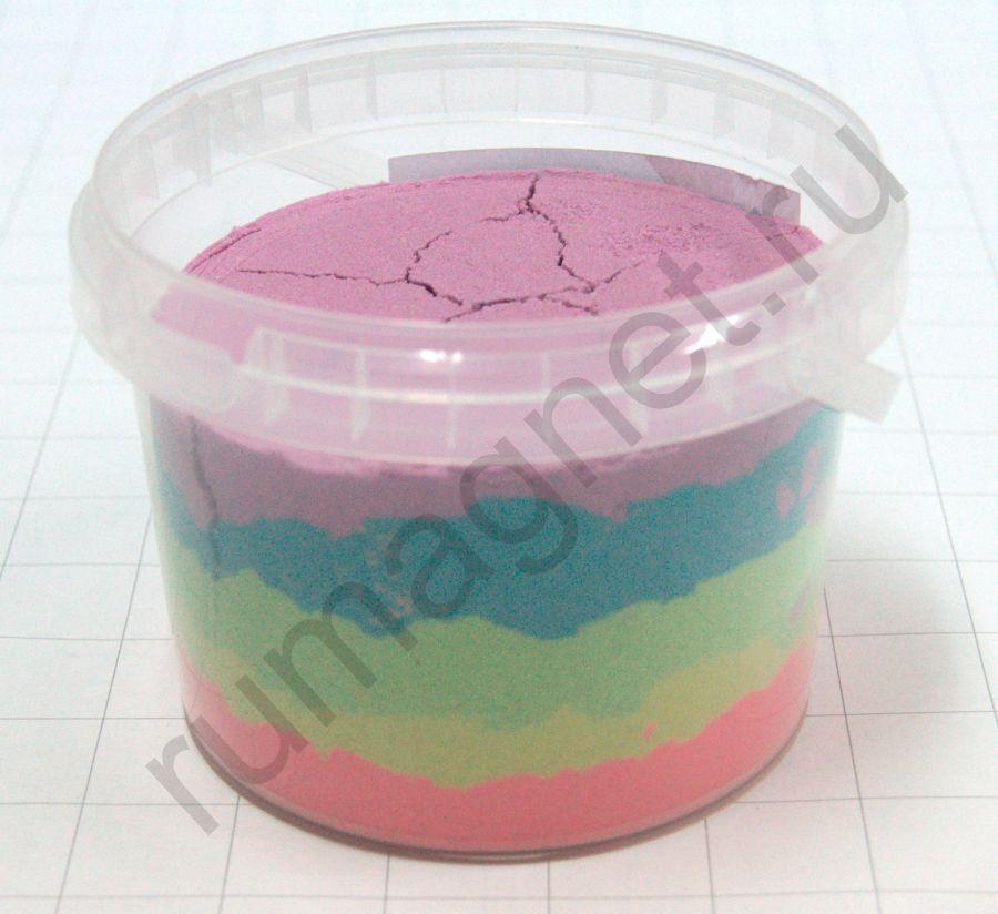 Кинетический песок многоцветный