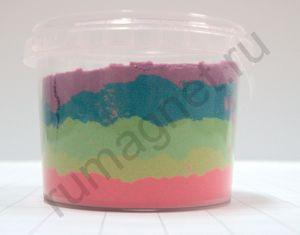 Купить кинетический песок, многоцветный