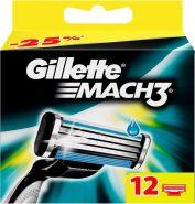 Кассеты для бритья Gillette mach3 12 шт