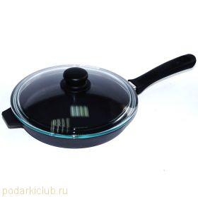 Сковорода чугунная Добрыня DO-3302 24 см.(код 26)