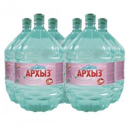 Вода Архыз 6 бутылей по 19 литров, пэт.