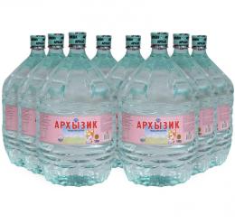 Вода Архызик 8 бутылей по 19 литров, пэт.