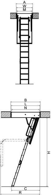 Складная термоизоляционная лестница FAKRO LTK Energy