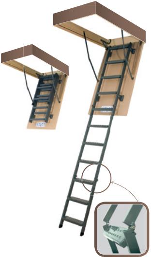 Складная утепленная складная лестница FAKRO LMS