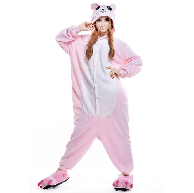 Пижама Кигуруми Мышка Розовая Премиум