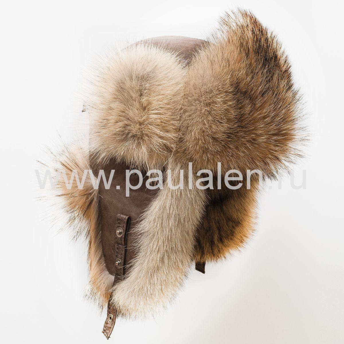Мужская шапка из волка