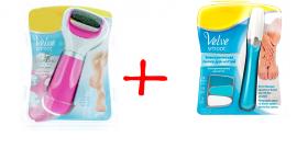 Электрическая роликовая пилка для пяточек розовая + пилка для ногтей