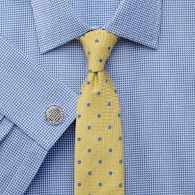 Мужская рубашка под запонки синяя Charles Tyrwhitt сильно приталенная Extra Slim Fit (FD424BLU)