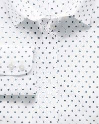 Женская рубашка белая в черный горошек Charles Tyrwhitt не мнущаяся Non Iron приталенная Fitted (WT029WNV)
