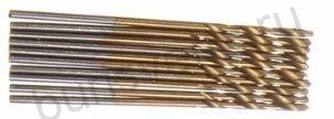 Сверло по металлу 1 мм, с титановым покрытием. HSS-TiN