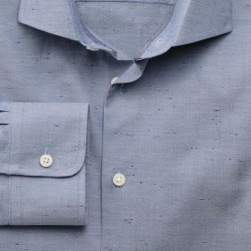 Мужская рубашка серая с цветными вставками Charles Tyrwhitt приталенная Slim Fit (FB274BLU)