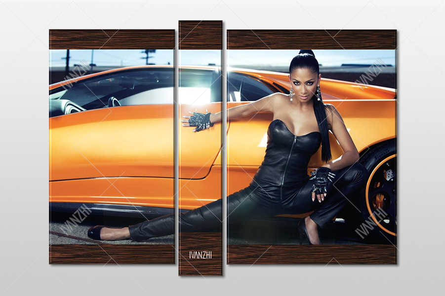 Девушка и Lamborghini Diablo
