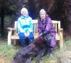 Именная скамья в заповеднике в Glencoe