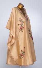 Нежное золотистое платье оверсайз, натуральный шелк (Москва)