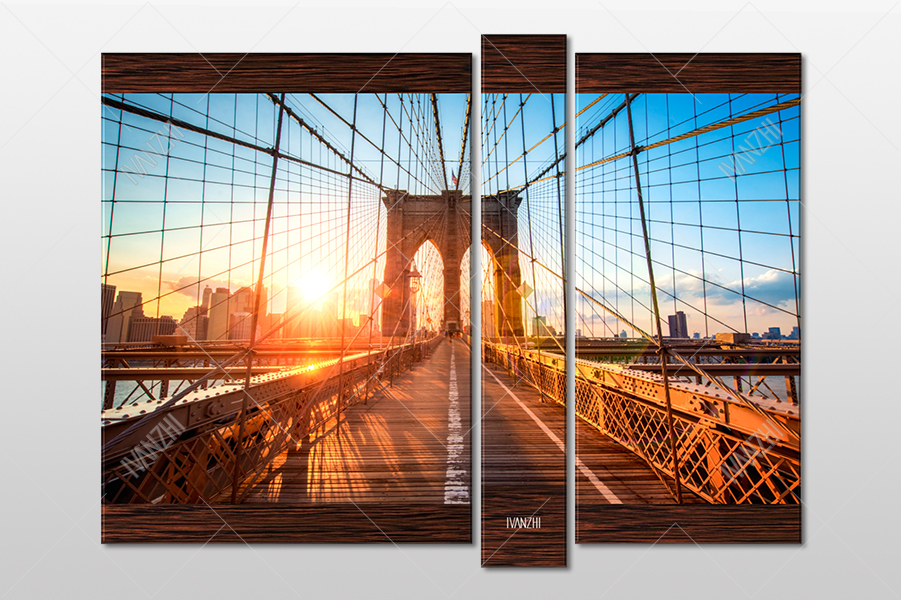 Восход за Бруклинским мостом