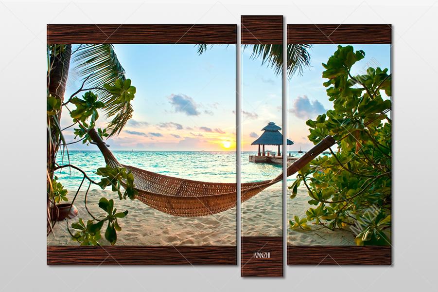 Гамак на райском пляже