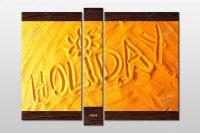 modulnaya-kartina-nadpis-holiday-na-peske