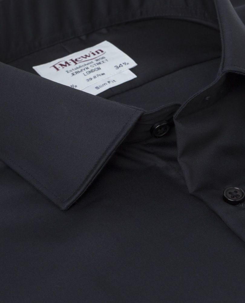 af2dbe15bc69202 английская Мужская рубашка черная сатиновая купить Москва T.M.Lewin ...