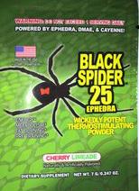 Предтренировочный комплекс Black Spider 25 1 порция. (Cloma Pharma)