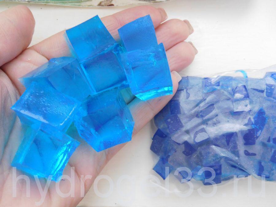 Гидрогель кубики синие (120 шт)