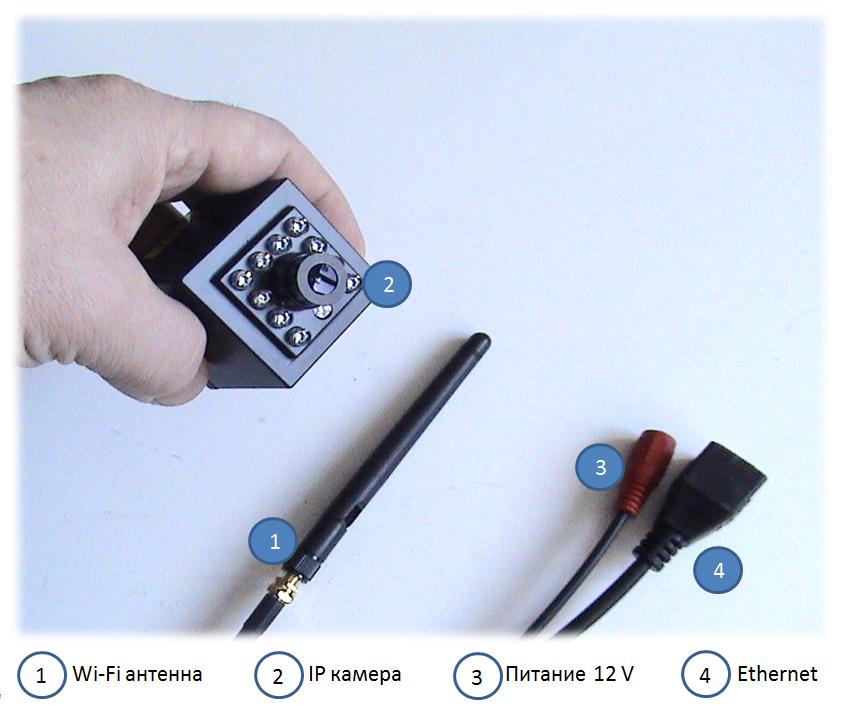 Мини Wi-Fi камера c инфракрасной подсветкой и записью на Яндекс-Диск