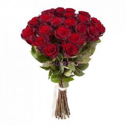 Букет 21 красная роза Премиум