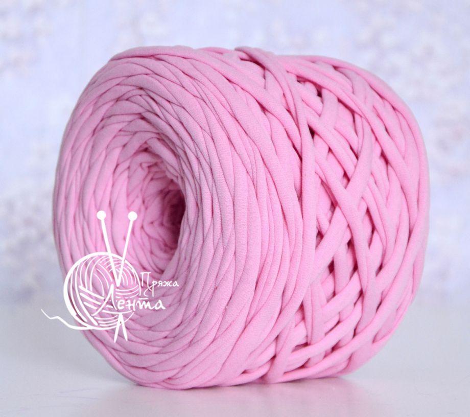 Пряжа Лента. Цвет Розовый