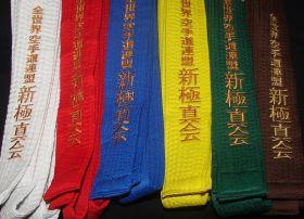 Пояс плотный с вышивкой SHINKYOKUSHINKAI