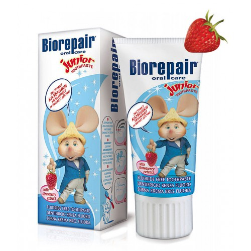 Зубная паста Biorepair Junior для 0-13 лет земляника