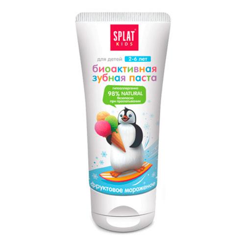 Детская зубная паста Splat Фруктовое мороженое 2+