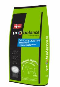 ProBalance Delicate Digestion д/взрослых собак всех пород Лосось с рисом 15кг